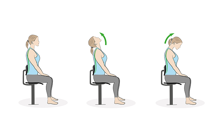 neck firming exercises, chin tuck